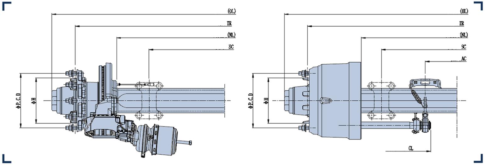 Maintenance free axle series