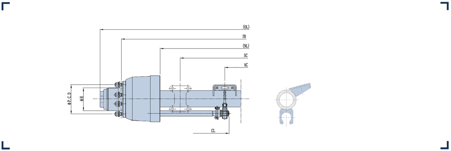 Low loader axle series