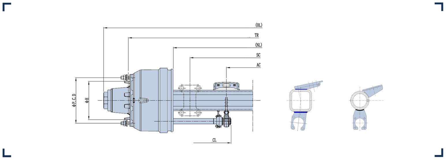 制动鼓内置车轴系列